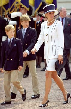 ELLE  from ELLE With New Biopic Diana Set to Hit the Big Screen, We Look Back at the Princess's… Princess Diana with the boys (Prince William and Prince Harry) in 1995