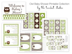 Owl Baby Shower - Printable Party Collection - The TomKat Studio. $39.50, via Etsy.