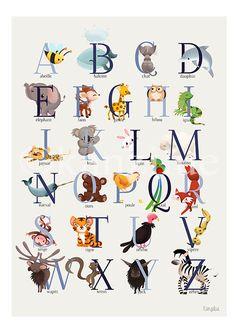 alphabet g ~ alphabet games ; alphabet games for preschool ; alphabet games for kindergarten ; alphabet g ; alphabet games for toddlers ; alphabet games for kids Animal Alphabet, Alphabet For Kids, Alphabet And Numbers, Animal Letters, Alphabet Games, Preschool Alphabet, Education Logo Design, Art Education, Alphabet Poster