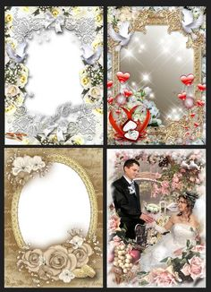 Collection of wedding frames