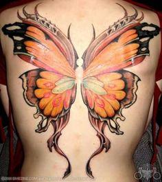 Schmetterlingsfluegel Tattoo