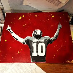 #RGIII painting done by @Steve Moffett
