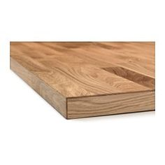 "KARLBY Countertop for kitchen island, oak - 74x42x1 1/2 "" - IKEA - use to make a new top for kitchen table"