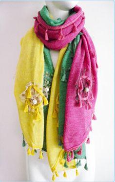 embellished scarf