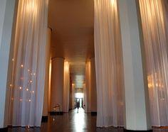 The interior of the Delano hotel, Miami South Beach