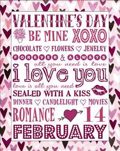 Free Valentine's Day Subway Art Printable Kostenlose Valentinstag U-Bahn Art Printable Valentines Day Sayings, Teacher Valentine, Valentines Day Pictures, Valentines Day Cookies, Valentines Day Hearts, Valentine Day Love, Valentine Day Crafts, Printable Valentine, Printable Art