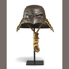 A Myochi iron eccentrically shaped helmet (kawari kabuto) By Myochin