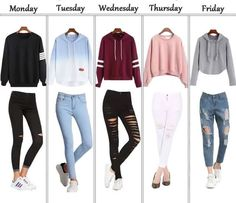 Alles außer dem Donnerstag-Outfit – – Fashion/ Mo… Everything except the Thursday outfit – – Fashion / Fashion – Cute Middle School Outfits, Cute Teen Outfits, Teenage Girl Outfits, Cute Comfy Outfits, Teen Fashion Outfits, Trendy Outfits, Middle School Clothes, Middle School Fashion, Back To School Outfits For Teens