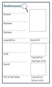 Soch Einen Ausweis Selbst Entwerfen Und Dann Auf Dickerem Papier Zehn Mal  Kopieren, Das Kommt Sicher Gut An! | Detektivparty   Krimi Party |  Pinterest ...
