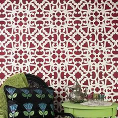 Modern Moroccan Lace Wall Stencils | Stenciling for DIY Home Decor | Royal Design Studio Stencils #DIYHomeDecorPainting