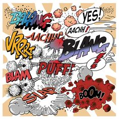 Comic Book Explosions. Vector Illustration. Clipart by VectorClash