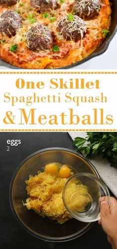 64 best meal prep recipe videos images on pinterest meal prep this quick and easy one skillet spaghetti squash meatballs recipe requires only a few simple forumfinder Images