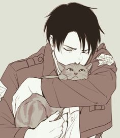 A headcanon of mine is that Levi loves kittens<<<headcanon accepted