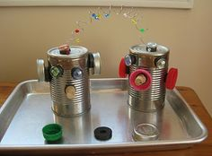 Magnets and tin cans - lots of robot possibilities.