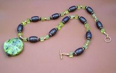 Mens Green Gemstone Necklace  #hoha
