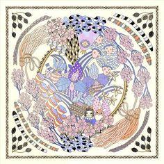 The Scarf Project — Yoko Furusho Illustration Illustration Artists, Illustrations, Scarf Design, Yoko, Design Show, Japanese, Fine Art, Gallery, Drawings