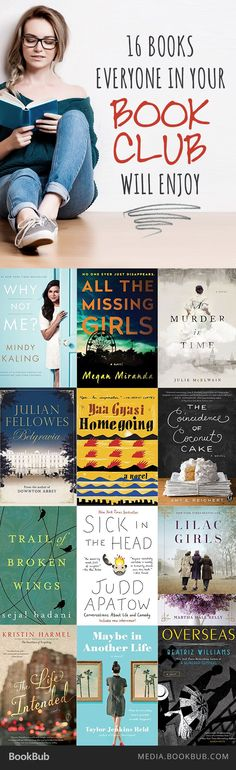 your book club looking for their next read? Check out this list of 16 books everyone in your book club will enjoy.Is your book club looking for their next read? Check out this list of 16 books everyone in your book club will enjoy. Books And Tea, I Love Books, Great Books, My Books, Book Club Books 2017, Book Club Food, Book Suggestions, Book Recommendations, Reading Lists