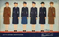 Women's military uniforms during WWII