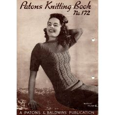 1940s Knitting Patterns for Women's Sweaters by BessieAndMaive, $9.50