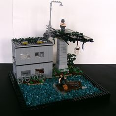 Lego Zombies, Nuclear Winter, Awesome Lego, Cool Lego Creations, Lego Design, Lego Stuff, Lego Building, Legoland, Legos