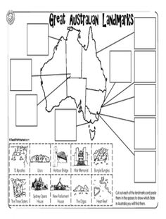 Select from a large range of generated, static or user created worksheets. Also create your own worksheets Geography Activities, Teaching Geography, History Activities, World Geography, History Education, Teaching History, Teaching Art, Australia School, Australia Map