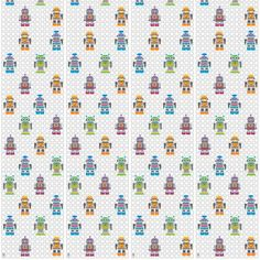Decorate your tech-savvy darling bedroom, playroom, or bathroom with removable wallpaper in a stylishly kid-friendly robot print. Design a futuristic video game