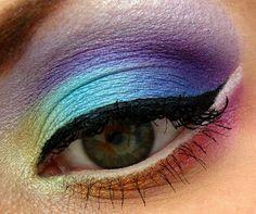 Rainbow eyeshadow makeup