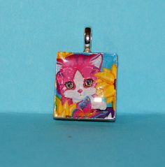 Lisa Frank Scrabble Tile pendant!