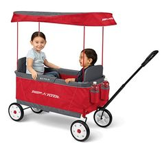 The Ultimate EZ Fold Wagon is the only folding wagon designed for kids. The simple one-hand folding feature makes this full size wagon easy to transport and store.