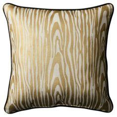 Gold wood grain pillow