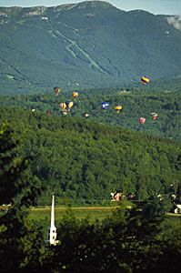 Stowe, VT ~ the weather was an issue when we went up many years ago and no balloons went up...LOVE Vermont!