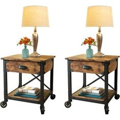Better Homes and Garden Rustic Country Side Table, Set of 2 - Walmart.com