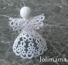 Joli Mama's blog: angel pattern - I think this is tatted, instead of regular crochet, but it's cute