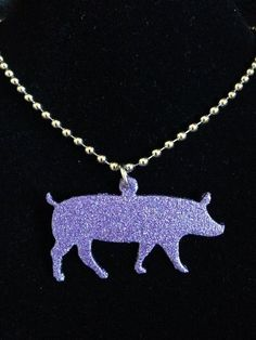 Glitter Finish Show Pig Necklace **MORE COLORS**