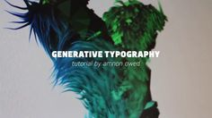 CAN Generative Typography on Vimeo
