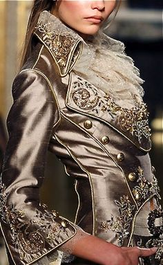 Zuhair Murad ~ detail- A female take on what Eloi would wear