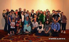 Here's the guests & VIP badge holders at #timegate2016 I'm in the back next to Paul McGann & Terry Malloy. #TimeGate #DoctorWho