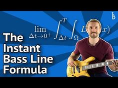Bass Lines In Minutes - A 'Plug-And-Play' Formula - YouTube Bass Guitar Notes, Bass Guitar Chords, Learn Bass Guitar, Bass Guitar Lessons, Double Bass, Country Songs, Music Theory, Playing Guitar, Classical Music