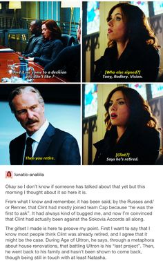 Clint + the sokovia accords part 1/3 // Clint Barton, hawkeye, Natasha romanoff, Wanda maximoff, scarlet witch, Steve Rogers, captain America, team cap, marvel, mcu, avengers, cacw, captain America: civil war, civil war