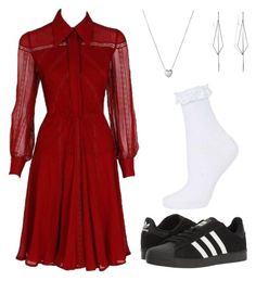 """Untitled #144"" by nikki-m-f on Polyvore featuring Valentino, Links of London, adidas, Topshop and Diane Kordas"