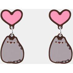 Pusheen Heart stud earrings