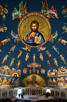 Assumption of the Theotokos Greek Orthodox Cathedral, Denver, Colorado- by Raul J. Garcia on Behance Catholic Art, Religious Art, Religion, Church Interior, Church Architecture, Cathedral Church, Chef D Oeuvre, Christian Church, Chapelle