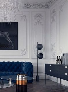 Luxury home decor - Indigo Blue trend can look Stunning in your Living Room See How! – Luxury home decor Luxury Homes Interior, Luxury Home Decor, Cheap Home Decor, Home Interior Design, My Living Room, Living Room Interior, Living Room Decor, Classic Interior, Modern Interior