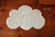 DIY cloud rug - just cut out a fur and add the stopper paper in the back