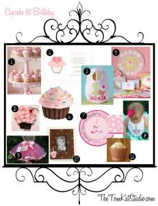 Project Nursery - inspiration-board-cupcake-1st-birthday1