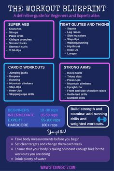 Workout and training ideas for abs, gluten, thighs and arms. Click through to my�