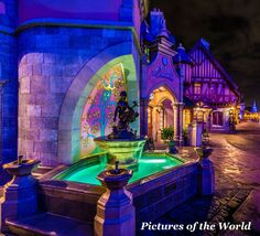 Amazing Disney World Photography from WDW Shutterbug- Cinderella Fountain. Click here for more beautiful Disney World photos!