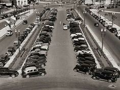 Vale do Anhangabaú, década de 40. (Foto: Werner Haberkorn/Fotolabor)