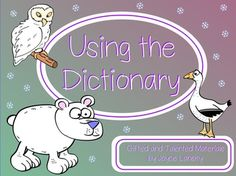 Using the Dictionary for Promethean Board Use