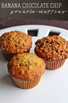 Featured Recipe: Banana Chocolate Chip Granola Muffins from Rainstorms ...